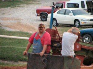 Mr. Goober handling the sled duties